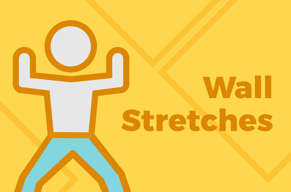 Graphic showing wall stretching